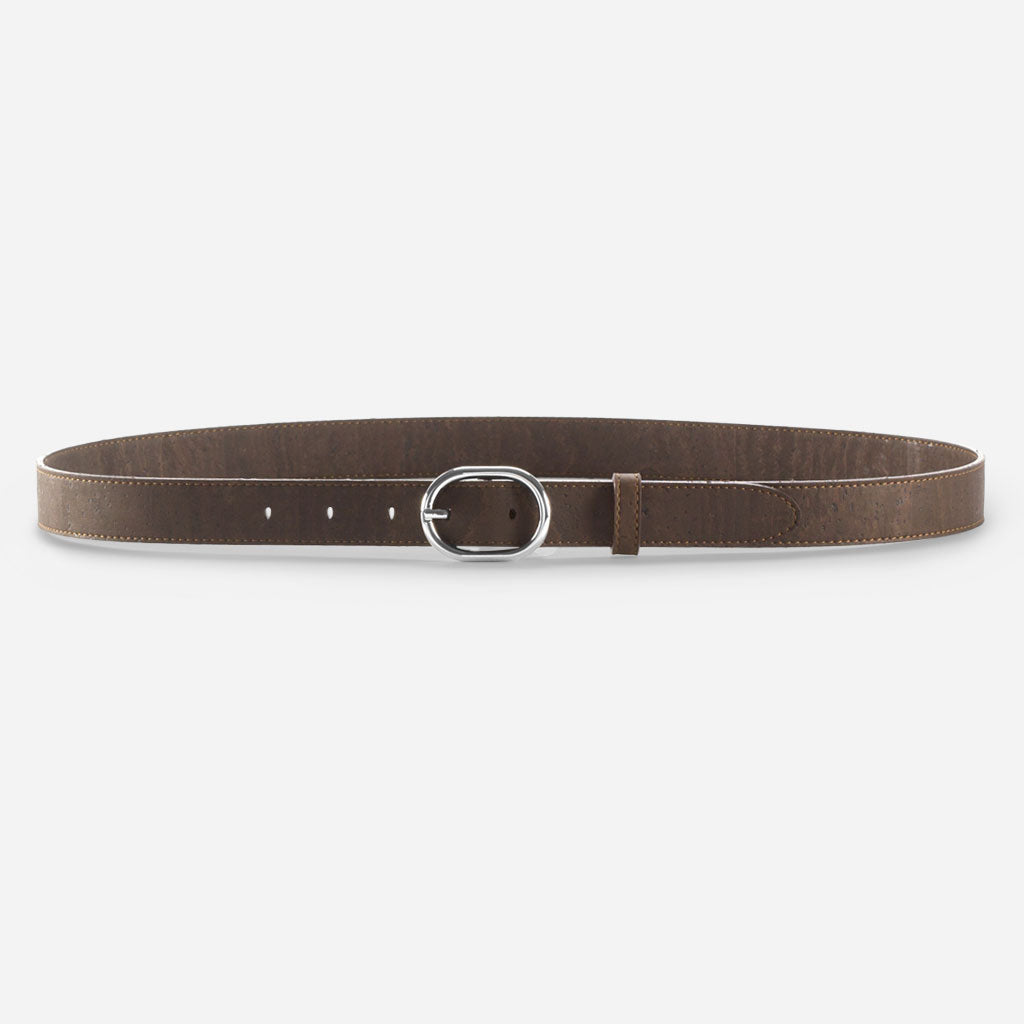 WOMEN CORK BELT 25MM BROWN