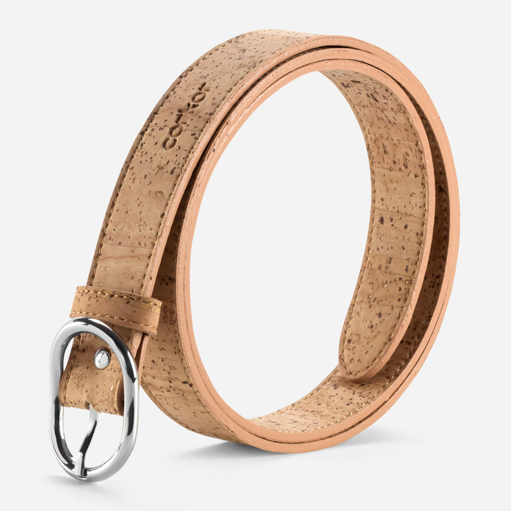 WOMEN CORK BELT 25MM NATURAL