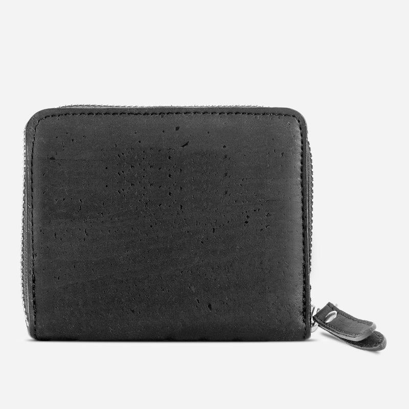Women Cork Wallet Small Black