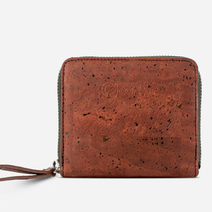 Women Cork Wallet Small Red