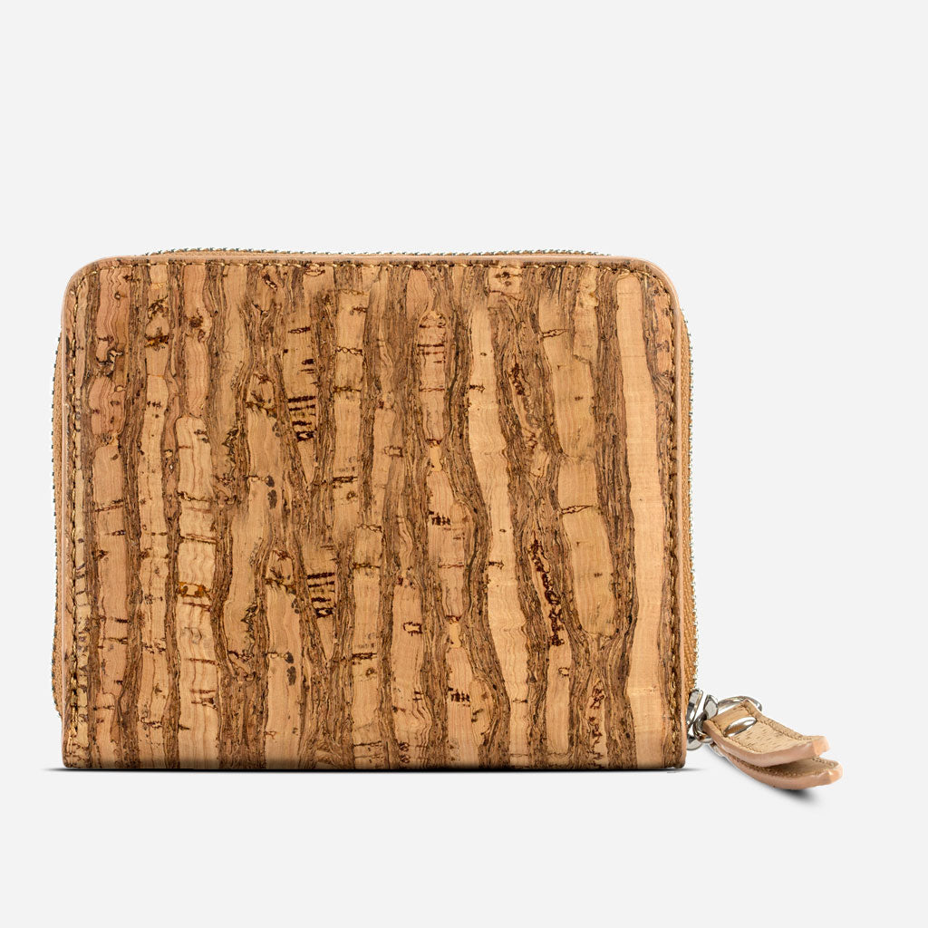 Women Cork Wallet Small Zebra