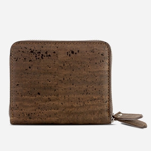 Women Cork Wallet Small Brown
