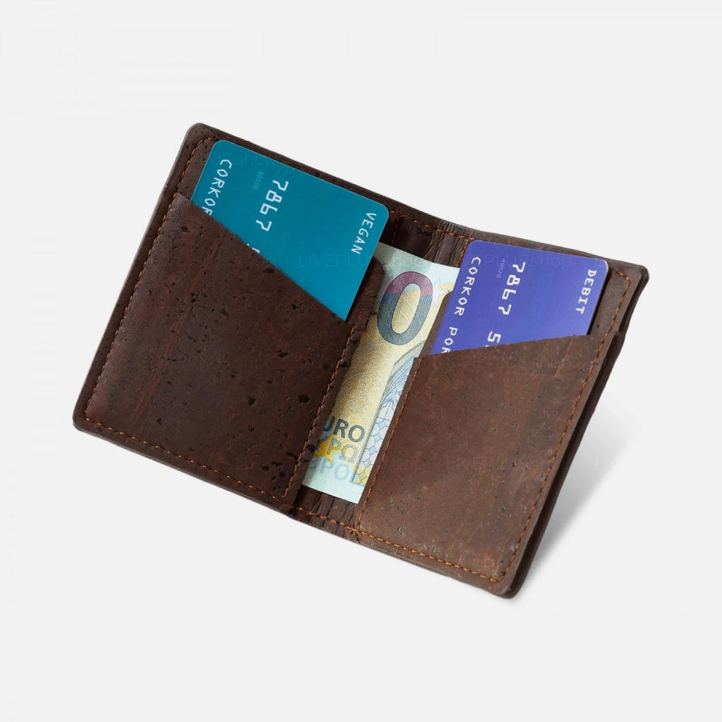 Slim Wallet Coins Pocket Brown