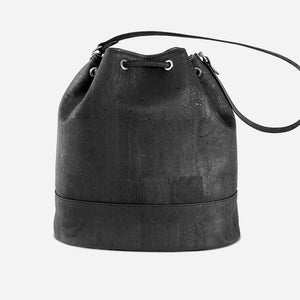 Cork Bucket Bag Black