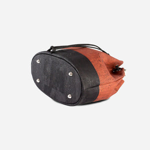 Cork Bucket Bag Red