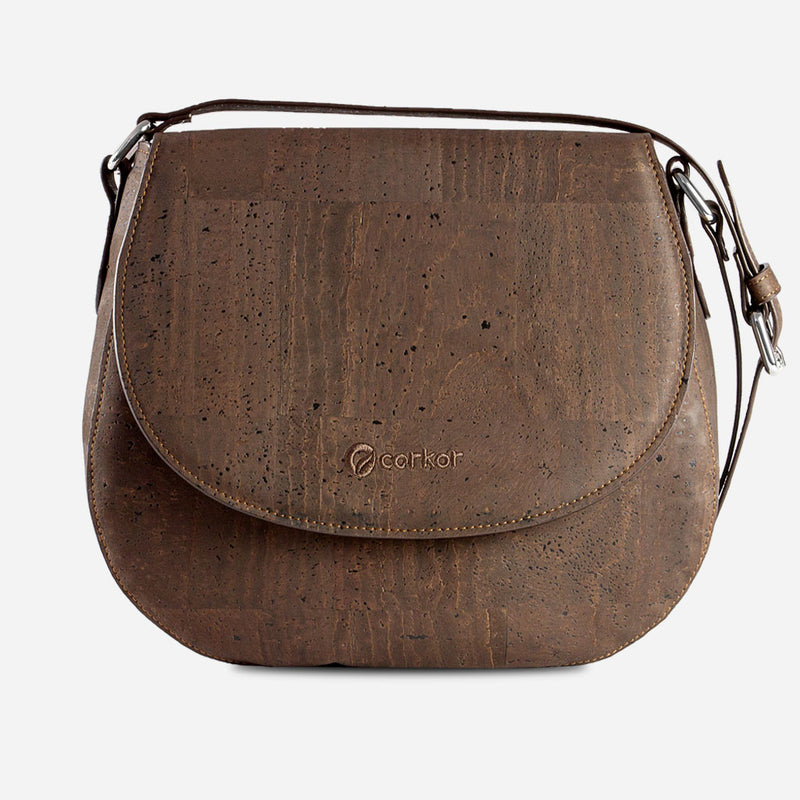 Cork Saddle Bag Brown