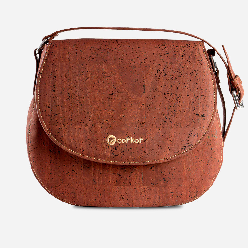 Cork Saddle Bag Red
