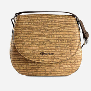 Cork Saddle Bag Zebra