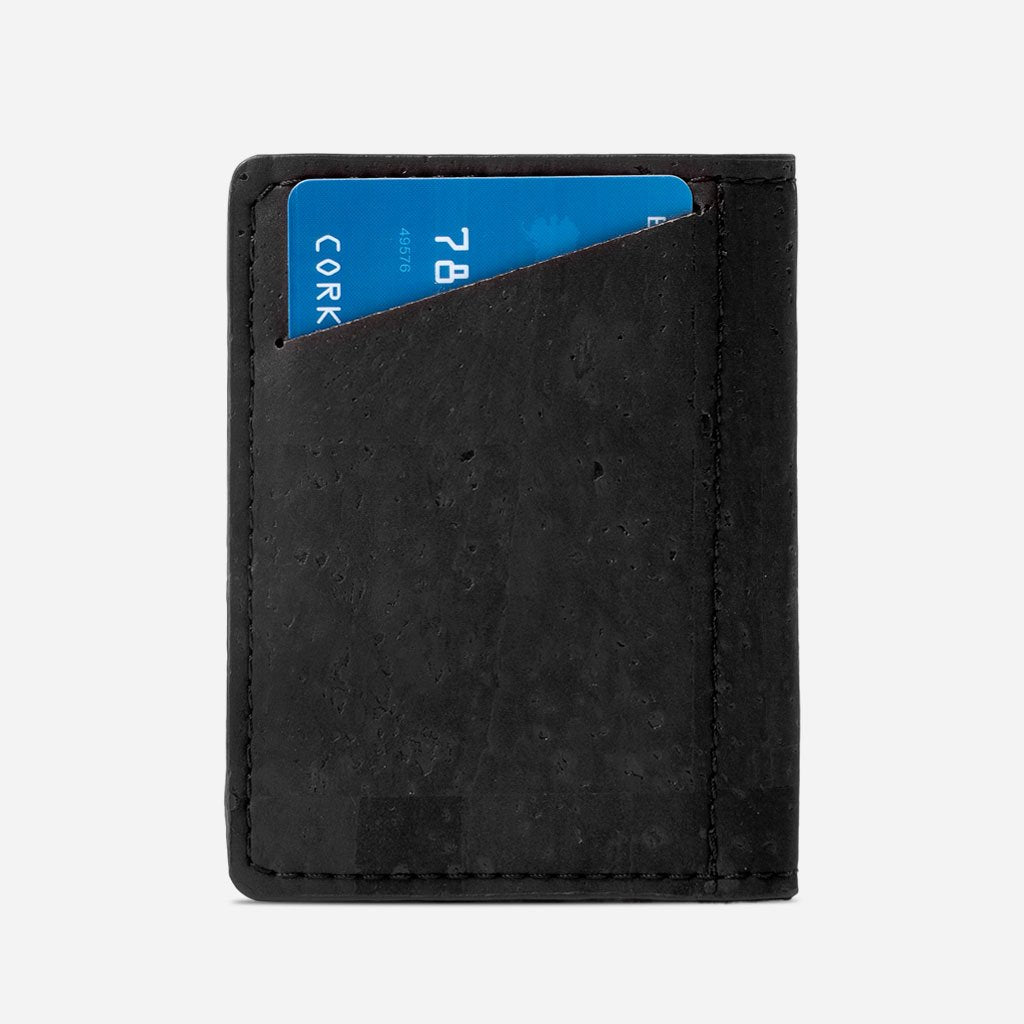 Slim Cork Wallet black