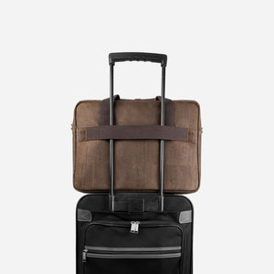 Vegan Briefcase Brown
