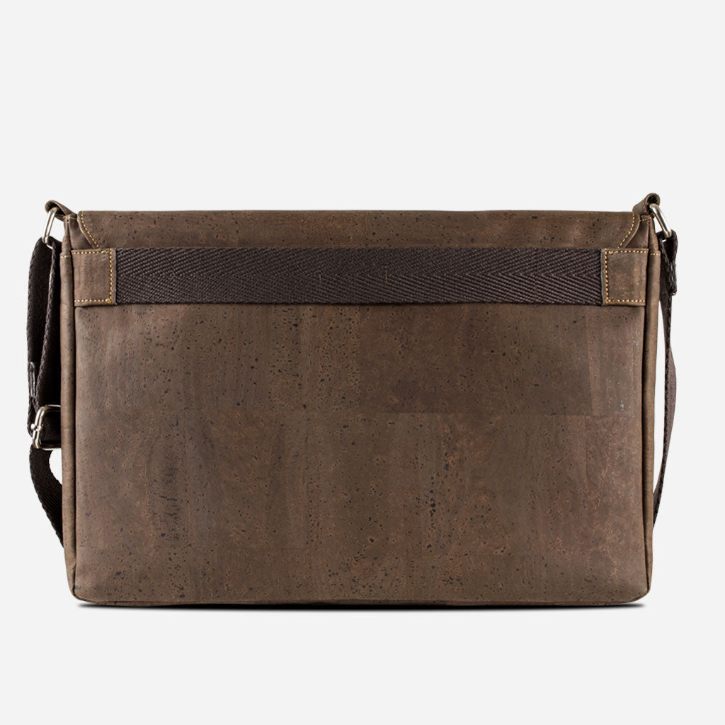 Vegan Messenger Bag Brown