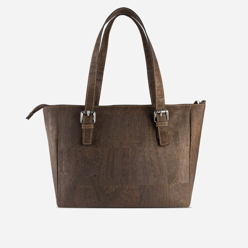 Vegan Satchel Bag For Women Brown