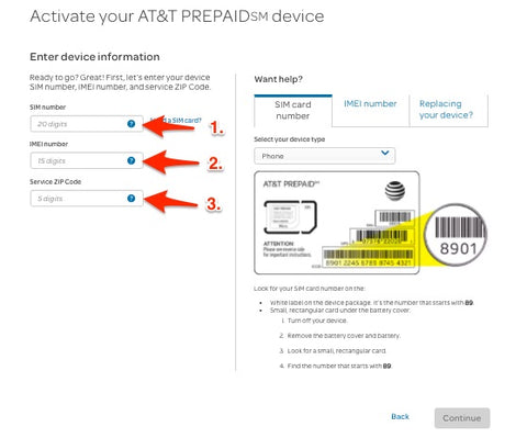 US AT&T Prepaid SIM Activation Guide | SIM card for USA