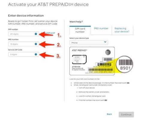 US AT&T Prepaid SIM Activation Guide | SIM card for USA Canada