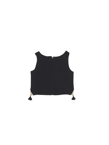 Soho Tank Top in Raven Gauze