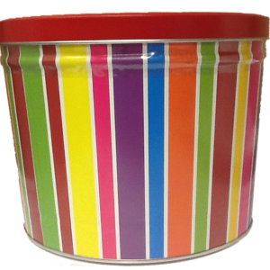 2 Gallons *Striped Birthday Tin*  2 Flavor