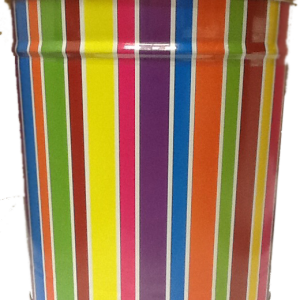 3.5 Gallon *Striped Birthday Tin*  3 Flavor