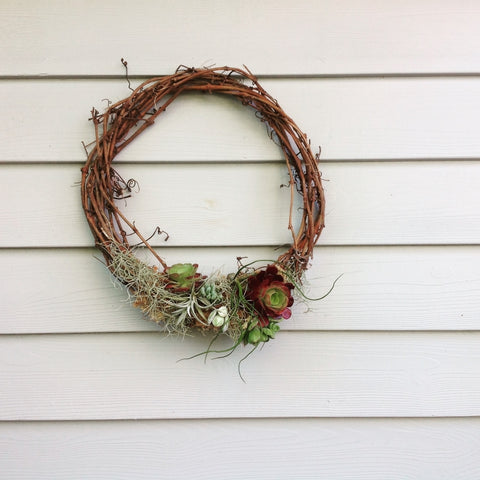 Living Cane Wreath