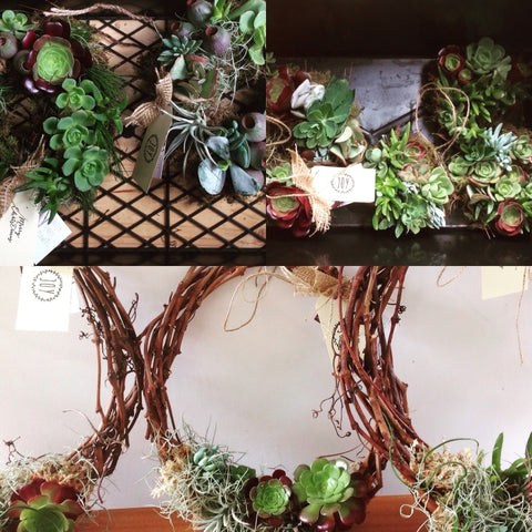 Living Christmas Wreaths
