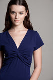 DOTE knot front breastfeeding top navy