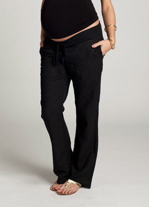 black yoga lounge pants