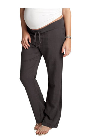Ingrid & Isabel Linen Maternity Pants Grey