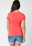 Ripe Maternity Embrace Maternity Nursing Top Coral