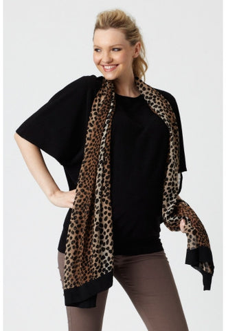 Pea in a Pod Batwing Maternity top black