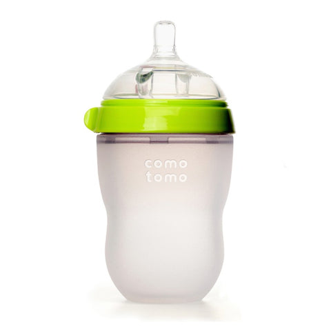 comotomo natural feel baby bottle green 250ml