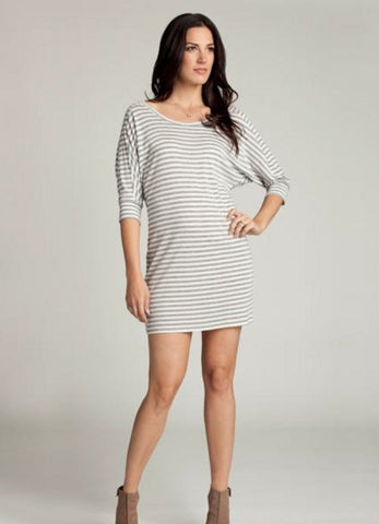 Ingrid & Isabel Dolman Maternity Dress White/Grey