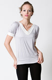 DOTE Slate Top grey breastfeeding top front