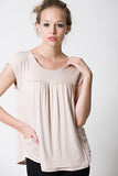 DOTE Lindsay Pocket Top Beige close up