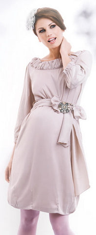 happy-mum-bellis-beige-maternity-dress