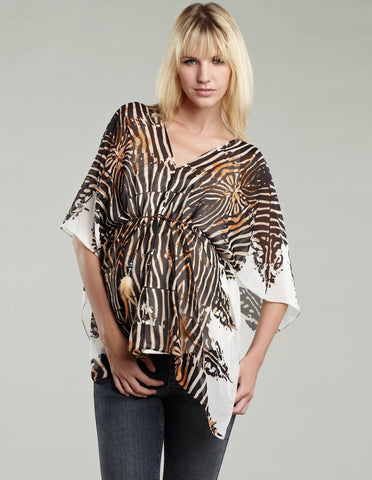 Maternal America Animal Print Kaftan with Cami Maternity top