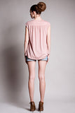 DOTE Lindsay Pocket Top Blush back view