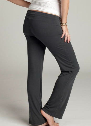 Ingrid & Isabel Maternity Lounge Pant black back view