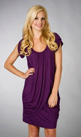 Maternalove Petal Breastfeeding Dress Purple