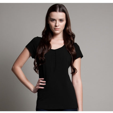 DOTE Keyhole Breastfeeding Top Black front view