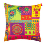 Pretty Potpourri Poly Taf Silk Cushion Cover