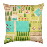 Maze Garden Poly Taf Silk Cushion Cover