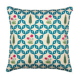 Flowers and Ferns Poly Taf Silk Cushion Cover