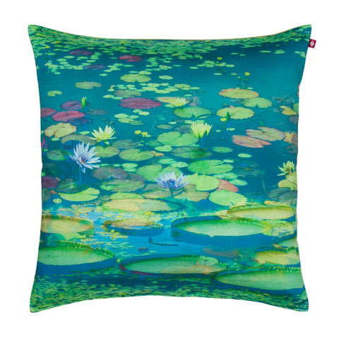 Blooming Waters Poly Taf Silk Cushion Cover
