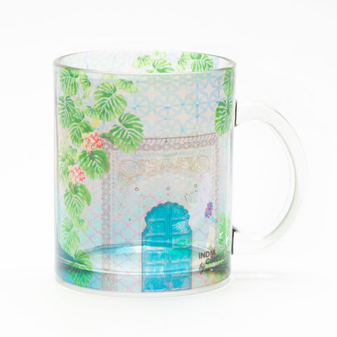 Mysterious Doorway Glass Mug