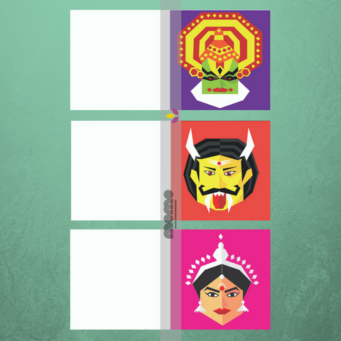 Set of 6 Indian Gift Cards