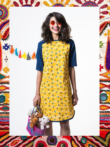 Daffodil Yellow Heart & Denim Tunic