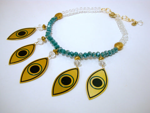 Golden Eyes Necklace