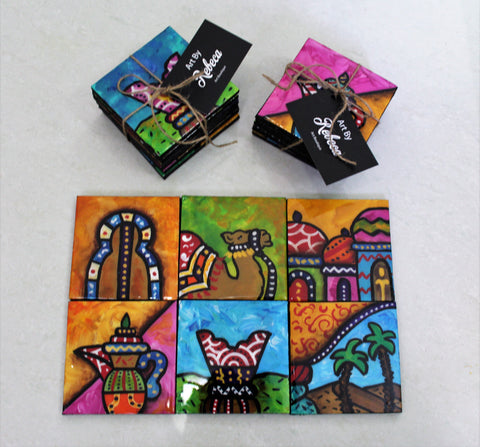 Arabian Scenes Coaster Set