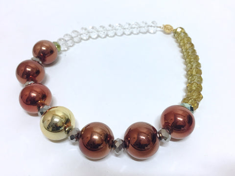 Bronze Bauble Necklace