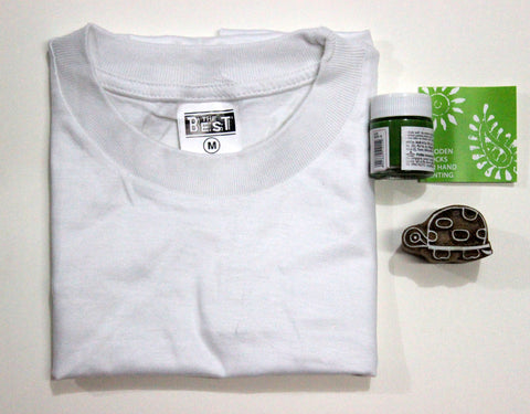 Green Turtle Print T-Shirt Kit