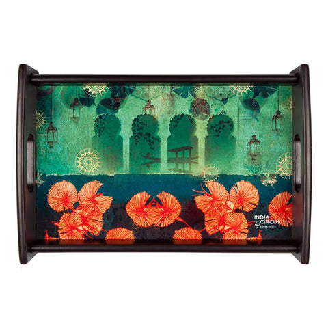 Leaves and Lanterns Tray